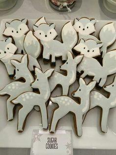 Justine Bergman Boone:  Winter wonderland,  silver fox and deer.  (Target's fox cookie cutter)