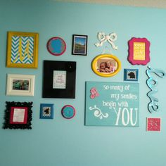 Gallery wall in her room-girls room