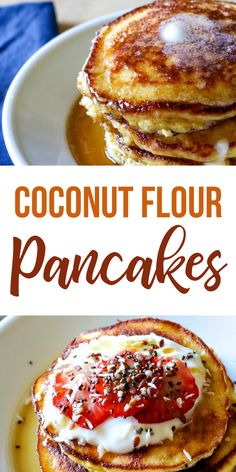 These Gluten-Free, No Fail, Coconut Flour Pancakes will rock your socks off! They're THAT good and THAT easy! Cocnut Flour Pancakes, Coconut Flour Cakes, Coconut Pancakes, Coconut Flour Recipes, Pancakes Easy, Baking With Coconut Flour, Oat Pancakes, Gluten Free Pancakes, Homemade Pancakes