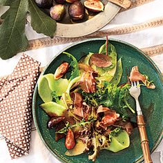 Great Summer Salads | Melon and Fig Salad with Prosciutto and Balsamic Drizzle | CookingLight.com