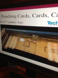 Laser-cut Punch Card