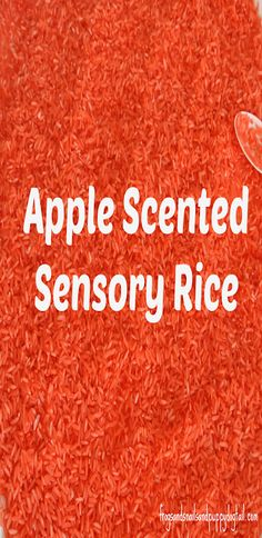 Apple Scented Sensory Rice: The How To by FSPDT This is such an easy sensory material to make.  Perfect for Fall Sensory bins for kids to play in.