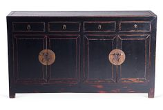 One Kings Lane - Eye to the East - Shanxi Pine Cabinet Pine Cabinets, Oriental Furniture, Cool Furniture, Interior Inspiration, Home Furnishings, Buffet, House Styles, Kings Lane, Asian