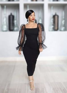 Night Out Outfit Classy, Elegant Outfit, Classy Dress, Classy Outfits, Black Dress Outfits, Casual Dresses, Fashion Dresses, Donia, Black Girl Fashion