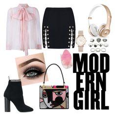 """Modern Girl ❤"" by ariiikmk ❤ liked on Polyvore featuring Gucci, ROSEFIELD, ASAP, Prada, Salvatore Ferragamo, SoapRocks and modern"