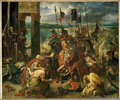 Eugène Delacroix - Die Eroberung Konstantinopels durch die Kreuzfahrer
