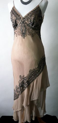 Art deco gatsby inspired beaded cocktail dress  by LALAPOUBELLE, $189.00