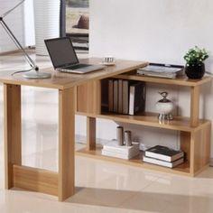 Combinación estantería recepción Servicio de mesas giratorias casa verde elegante escritorio de la esquina escritorio de la computadora de escritorio simple