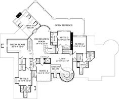 House Plan 3323-00561 - French Country Plan: 8,933 Square Feet, 7 Bedrooms, 7.5 Bathrooms