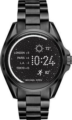00c2914de6385 Best Buy  Michael Kors Access Bradshaw Smartwatch 44.5mm Stainless Steel  Black MKT5005