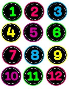 Neon Circle Numbers to 36 in assorted colors! Perfect for labeling cubbies, student supplies, etc. Kindergarten Classroom Decor, Classroom Decor Themes, Classroom Labels, Neon Number, Polka Dot Classroom, Number Labels, Student Numbers, Book Baskets, Printable Numbers