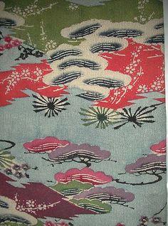 detail of kimono, 19th century from the Ryukyu Islands, Japan