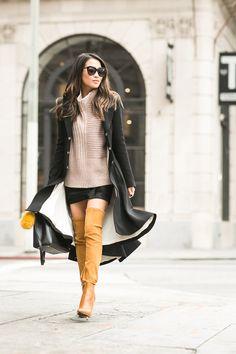 Comfy Knit :: Pleated long coat