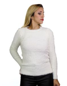Sweater Blanco Pelo Suave$549.00 Pullover, Sweaters, Fashion, White Sweaters, Wraps, Hair, Moda, Fashion Styles, Sweater