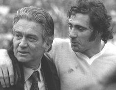 Tommaso Maestrelli e Giorgio Chinaglia. Entrenador y líder del equipo que consiguió el primer scudetto de la Lazio.