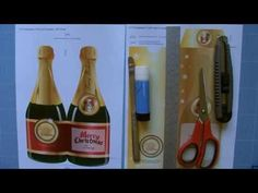 ▶ Making a Christmas Champagne Card and its Matching Envelope - YouTube