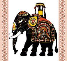 Vector de elefante indio festivo Foto de archivo