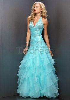 Beautiful Halter Ruffles Paillette Satin Tulle Prom Dress on sale, a perfect Prom Dresses with high quality and nice design. Buy it now or discover your Prom Dresses Mint Prom Dresses, Pretty Prom Dresses, Cheap Prom Dresses, Prom Party Dresses, Homecoming Dresses, Blue Dresses, Formal Dresses, Mint Dress, Dresses 2014