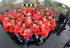 Arsenal's FA Cup winners parade 2015. The Team!