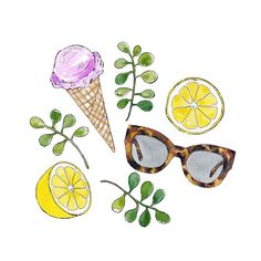 Hello spring! #goodobjects #watercolour #illustration #art