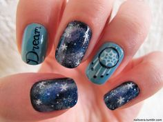Galaxy Dreamcatcher Nails....I think I'm in LOVE