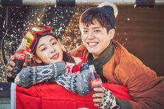 """""""park bogum and kim yuna for coca cola ✧ coca cola x 2018 pyeongchang winter olympics""""1451 x 966"""" """""""