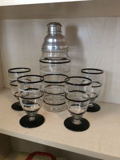 Vintage Art Deco Cocktail Shaker Set | eBay