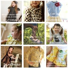 Girl Inspired Blog Sewing Tutorials & Patterns. This woman has 3 daughters so lots of girls dresses, costumes, tights, etc. I love the tutorials, easy to size up for my 11 year old daughter!