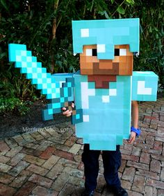 DIY Diamond Armor Minecraft Steve MommyMafia.com