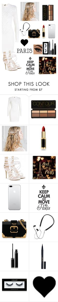 """Paris tonight❤"" by rumaisa-hadia ❤ liked on Polyvore featuring Balmain, L'Oréal Paris, iCanvas, Prada, Polaroid, Sisley, Stila, Inglot and love"