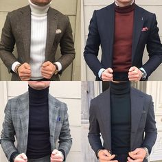 The Polo neck is back! Great way to dress in those chilly #february days and still look professional #mensstyle #mensfashion