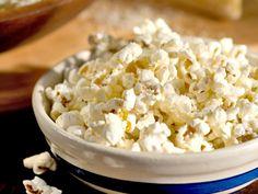 Popcorn with Parmesan and Pecorino recipe from Giada De Laurentiis via Food Network
