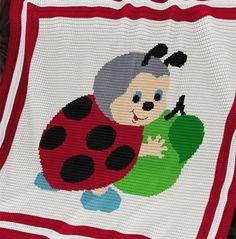 Crochet Pattern | Baby Blanket / Afghan - Ladybird's Apple