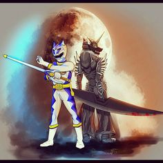 Silver lunar wolf ranger and zen aku Power Rangers Wild Force, Power Rangers Fan Art, Power Rangers Cosplay, Power Rangers Series, Desenho Do Power Rangers, Pawer Rangers, Mighty Morphin Power Rangers, Hitman Reborn, Geek Art