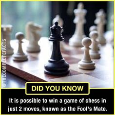 Fools mate - fastest checkmate in chess!