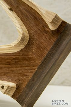 A lot of wood milled out. Wood Mill, Wooden Bicycle, Bike Ideas, Wooden Frames, Mtb, Bicycles, Things To Make, Wood, Wood Bike