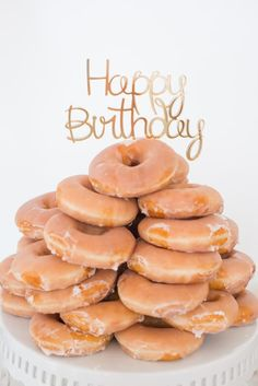 Cactus Garden Themed Birthday Party with a glazed donut tower Hotel Birthday Parties, 21st Party, Kylie Birthday, 21st Birthday, Donut Tower, Creative Birthday Cakes, Cake Tower, Doughnut Cake, Donut Glaze
