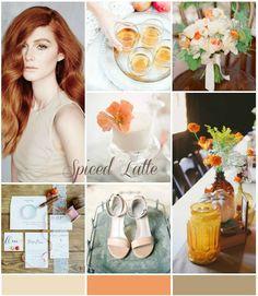 Colour Ideas! Spiced latte and pumpkin wedding inspiration Byron Love, Cobalt Blue Weddings, Pumpkin Wedding, Peach Flowers, Magical Wedding, Traditional Wedding, Color Mixing, Wedding Colors, Latte