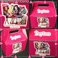 1o ever after high Party Favor Boxess Ever by InAweCreationbyDiana