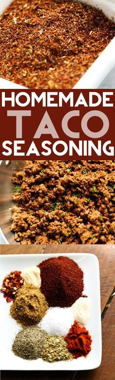 Homemade Taco Seasoning... A delicious blend of spices and seasonings that is perfect for one pound of ground beef. With cornstarch to thicken. (ground beef sliders)