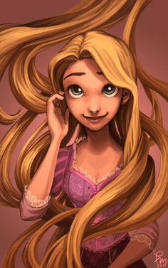 Rapunzel #Tangled What cute fan-art, very artistic.