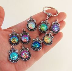 Mermaid keychain with  mermaid scales, key chain mermaid gifts mermaid accessories for only $3.99 each by BubbleGumGraffiti