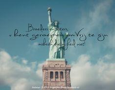 Broeders en Zusters, u zijt geroepen om vrij te zijn, misbruik die vrijheid niet! Galaten 5 :13  #Bevrijder, #Bevrijdingsdag  https://www.dagelijksebroodkruimels.nl/galaten-5-13/