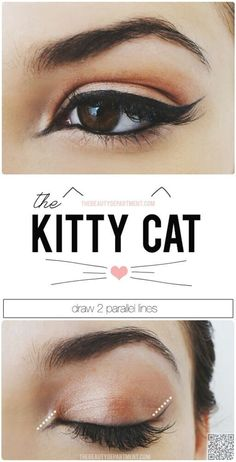 14. Try out the #Kitty Kat - 27 Tutorials That Will Ramp up Your #Eyeliner Game…