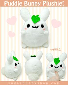 Puddle Bunny Plushie #cute #plush #toy