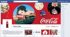 Coca Cola is one of the first companies to use timeline too. Of course it's all about the bottle of the brown sugarwater.look at the company's timeline.it's awesomely large! Facebook Page Cover Photo, New Facebook Page, Facebook Brand, About Facebook, How To Use Facebook, Facebook Business, Facebook Timeline Covers, Facebook Marketing, Marketing Digital