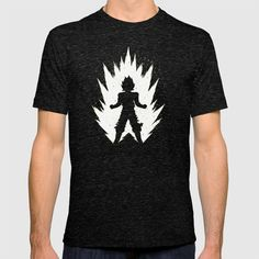 Buy Super Saiyan Vegeta Black White T-shirt by totokstory. Worldwide shipping available at Society6.com. Just one of millions of high quality products available.
