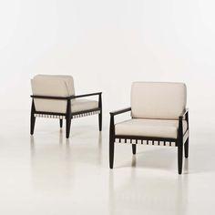 Tommi Parzinger; Walnut Lounge Chair for Parzinger Originals, 1957.
