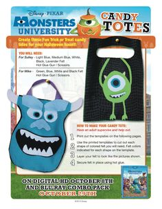 #MonstersUniversity Candy Totes!