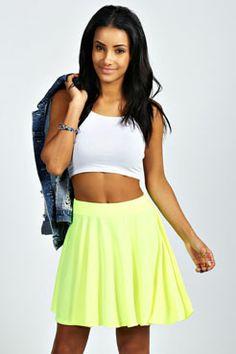 Lucille Neon Jersey Flippy Skirt